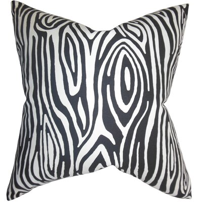 Thirza Swirls Cotton Throw Pillow Color: Black, Size: 22 x 22