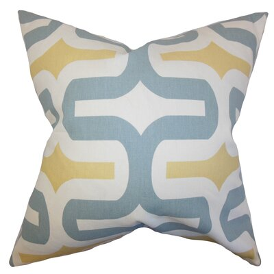 Libbie Cotton Throw Pillow Cover Color: Macon, Size: 18 H x 18 W