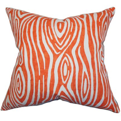 Thirza Swirls Cotton Throw Pillow Color: Tangerine, Size: 24 x 24
