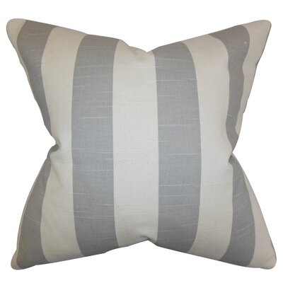 Acantha Stripes Cotton Throw Pillow Cover Color: Gray