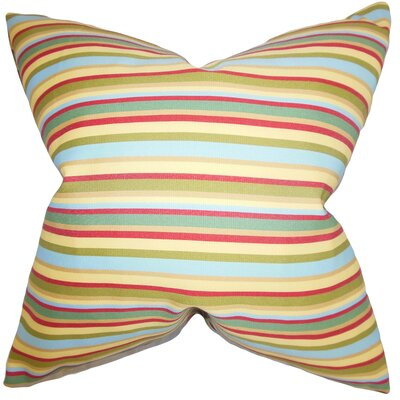Libby Stripes Cotton Throw Pillow Cover Color: Multi
