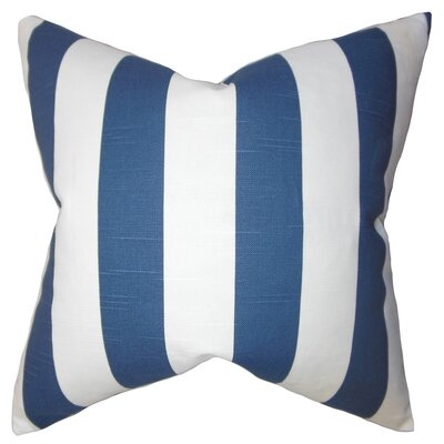 Acantha Stripes Cotton Throw Pillow Cover Color: Blue
