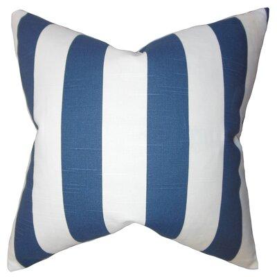 Acantha Stripes Cotton Throw Pillow Cover Color: Blue