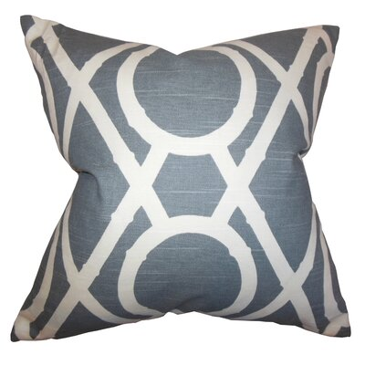 Whit Geometric Cotton Throw Pillow Color: Gray, Size: 24 x 24