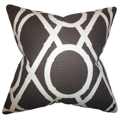Whit Geometric Cotton Throw Pillow Color: Terrain, Size: 24