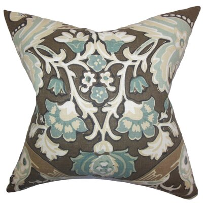 Kiriah Floral Linen Throw Pillow Cover Color: Storm