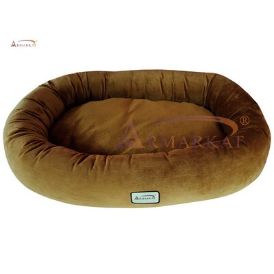 Donut Dog Bed Size: Large (43 L x 31 W), Color: Brown