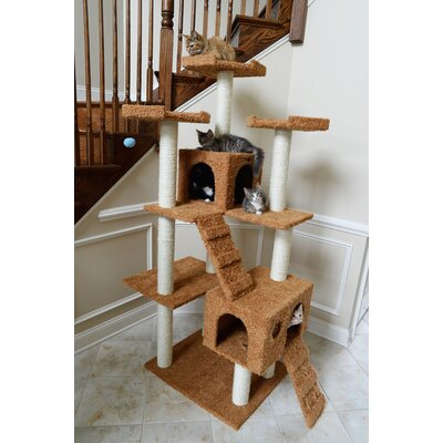 74 Classic Cat Tree in Brown