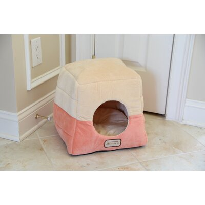 Cat Bed In Orange And Beige
