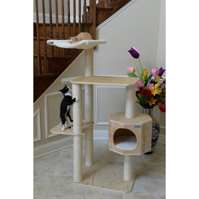 54 Premium Pinus Sylvestris Solid Wood Cat Tree