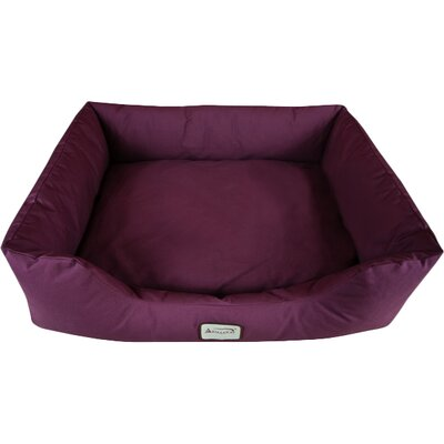 Bolster Dog Bed Size: Large (43 L x 32.5 W), Color: Burgundy
