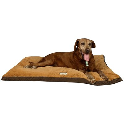 Mocha Dog Pillow Size: Medium (33.5 L x 25.5 W)