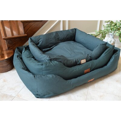 Bolster Dog Bed Size: Medium (34 L x 27.5 W), Color: Laurel Green
