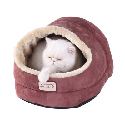 Cat Bed Color: Red and Beige
