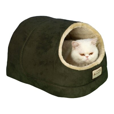 Cat Bed Color: Laurel Green and Beige