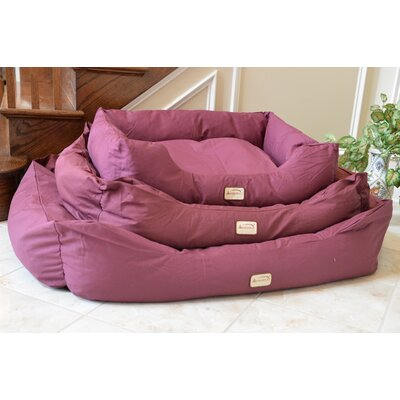 Bolster Dog Bed Size: Medium (34 L x 27.5 W), Color: Burgundy