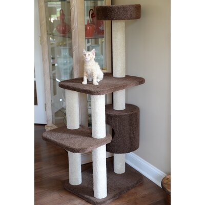 55 Premium Carpeted Cat Tree