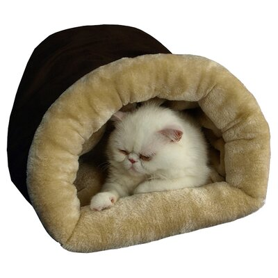 Tube Cat Bed Color: Mocha and Beige