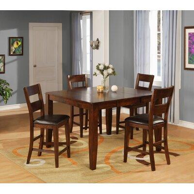 Wildon Home 5 Piece Counter Height Dining Set - Finish: Dark Cherry at Sears.com