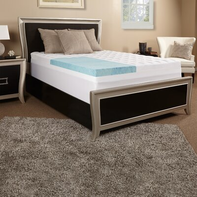 3.5 Gel Memory Foam and Fiber Mattress Topper Size: Twin