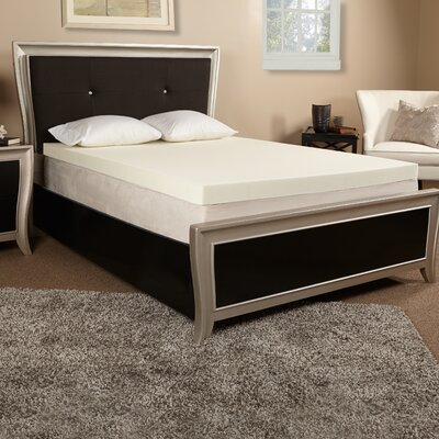4 Memory Foam Mattress Topper Size: Twin