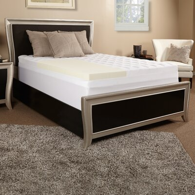 3.5 Memory Foam Mattress Topper Size: Queen
