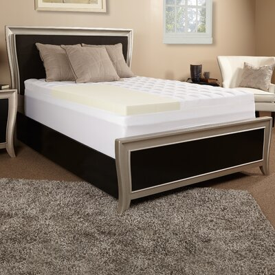 5.5 Memory Foam and Fiber Mattress Topper Size: Twin