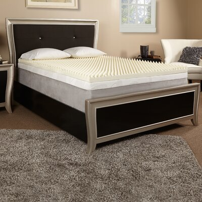 3 Textured Memory Foam Mattress Topper Size: Twin