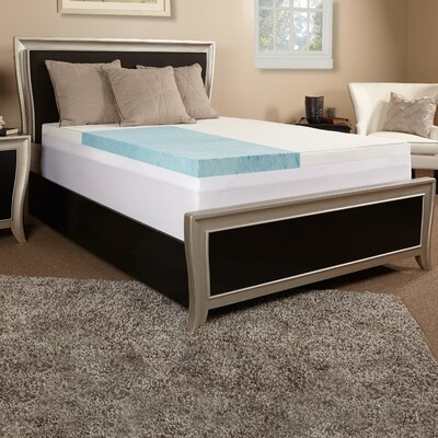 3 Gel Memory Foam Mattress Topper w/cover Size: King