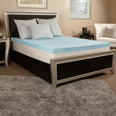4 Gel Memory Foam Mattress Topper Size: Full