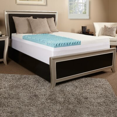 4 Textured Gel Memory Foam Mattress topper w/ cover Size: Full