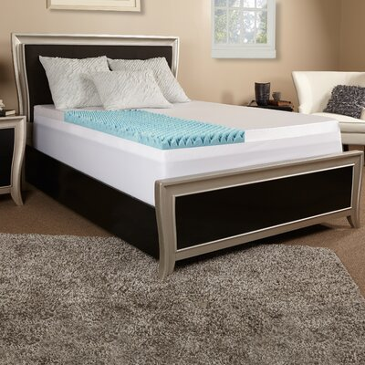 4 Gel Memory Foam Mattress Topper Size: Queen