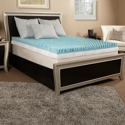 2 Gel Memory Foam Mattress Topper Size: Queen
