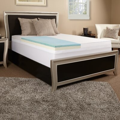 3 Gel Memory Foam Mattress Topper Size: King