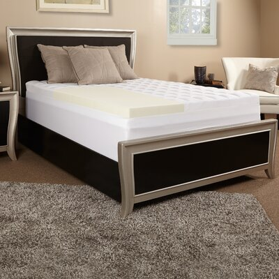 4.5 Memory Foam Mattress Topper Size: King