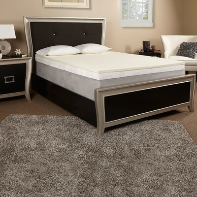 1 Memory Foam Mattress Topper Size: King