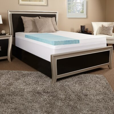 3 Gel Memory Foam Mattress Topper w/ cover Size: Queen