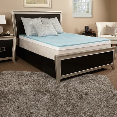 1 Gel Memory Foam Mattress Topper Size: Twin