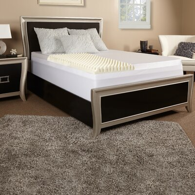 3 Textured Memory Foam Topper with Cover Size: California King