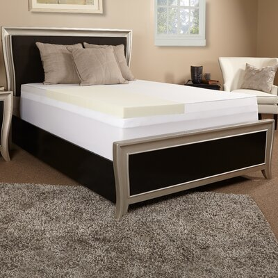 2 Memory Foam Topper with 300 TC Cover Size: Queen