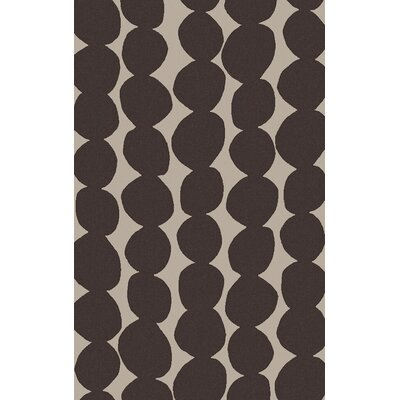 Textila Black/Light Gray Area Rug Rug Size: 5 x 8