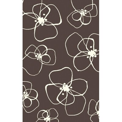 Textila Hand Woven Wool Chocolate Area Rug Rug Size: Rectangle 5 x 8