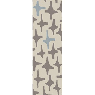 Textila Light Gray Area Rug Rug Size: Runner 26 x 8