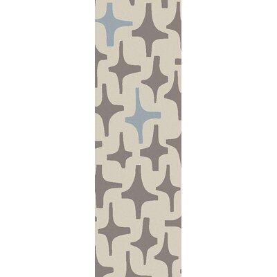 Textila Light Gray Area Rug Rug Size: Runner 26 x 8