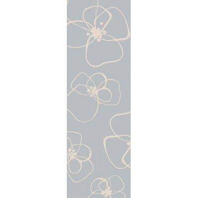 Textila Hand Woven Wool Sky Blue Area Rug Rug Size: Runner 26 x 8