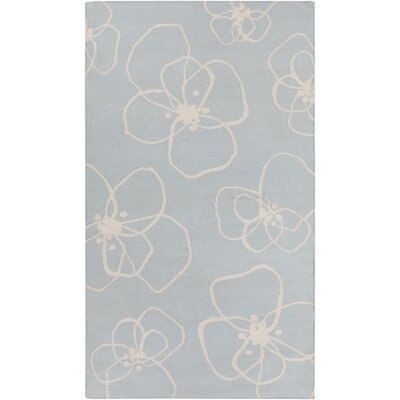 Textila Hand Woven Wool Sky Blue Area Rug Rug Size: Rectangle 2 x 3