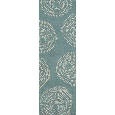 Decorativa Teal Floral Area Rug Rug Size: Runner 26 x 8