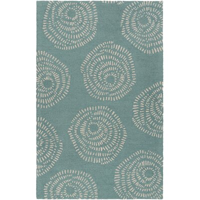 Decorativa Teal Floral Area Rug Rug Size: Rectangle 33 x 53