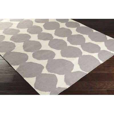 Textila Hand Woven Wool Gray Area Rug Rug Size: Rectangle 33 x 53