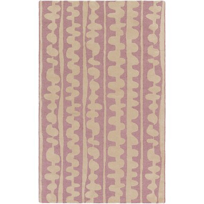 Decorativa Hand-Tufted Pink/Neutral Area Rug Rug Size: Rectangle 5 x 8